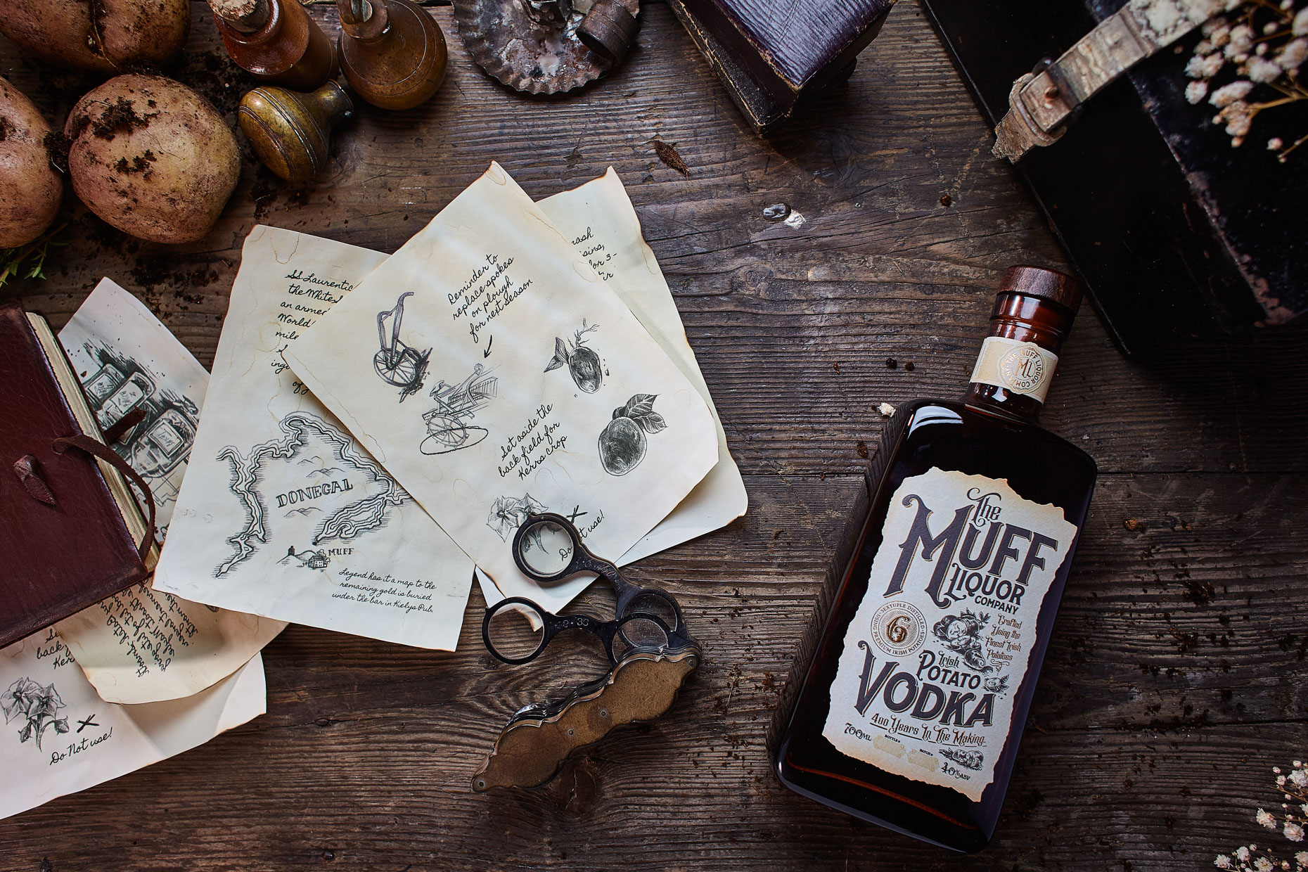 Brendan Ryan Photo - Flat Lay Drinks Photography